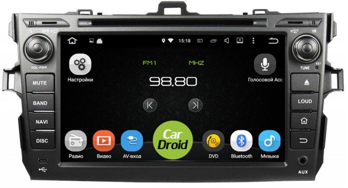 Штатная магнитола Roximo CarDroid RD-1104D для Toyota Corolla E150 (Android 8.0) DSP - фото 10234