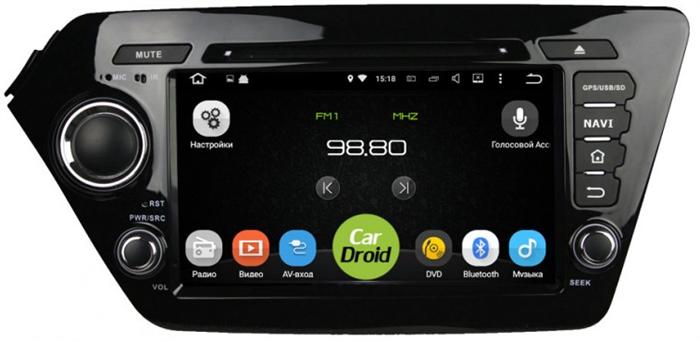 Штатная магнитола Roximo CarDroid RD-2304D для KIA RIO (Android 8.0) DSP - фото 10583