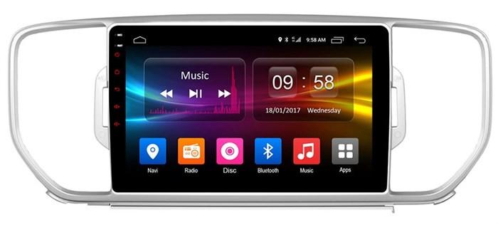 Штатное головное устройство CarMedia OL-9733 для Kia Sportage IV 2016-2017 на Android 6.0.1 - фото 10832