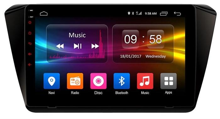 Штатное головное устройство CarMedia OL-1917 для Skoda Superb III 2015-2017 на Android 6.0.1 - фото 11770
