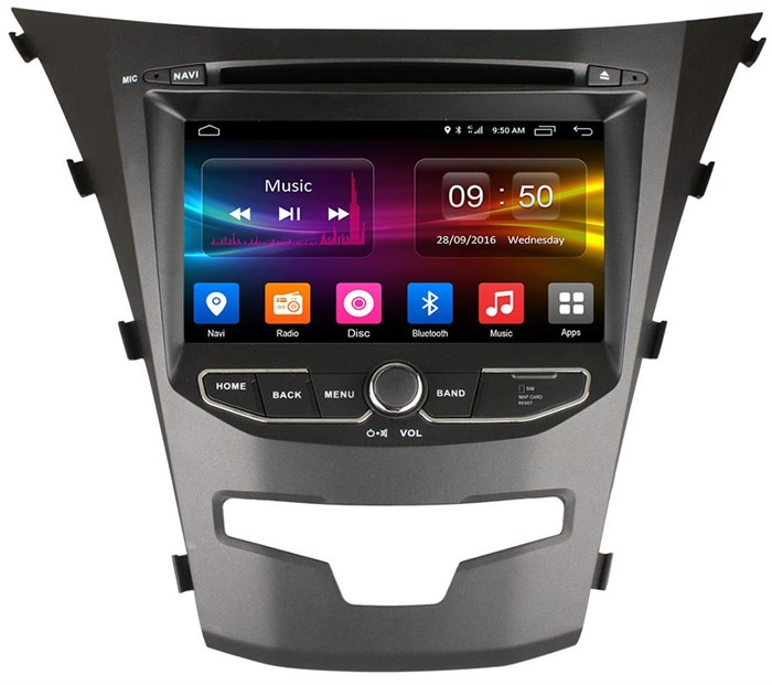 CarMedia OL-7798 для SsangYong Actyon II 2013-2017 на Android  6.0 - фото 11786