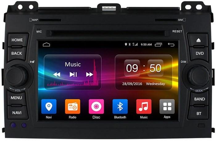 Штатное головное устройство CarMedia OL-7603 для Toyota LC Prado 120 2002-2009 на Android 6.0.1 - фото 11866