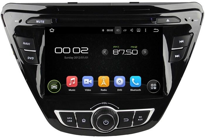 Штатное головное устройство CarMedia KD-7057 Hyundai Elantra 2014+ Android 5.1 - фото 12547