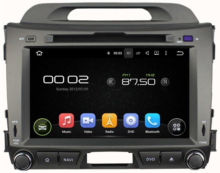 Штатное головное устройство CarMedia KD-8103 Kia Sportage 2010-2016 Android 5.1 - фото 12687