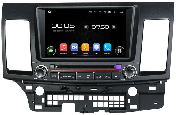 Штатное головное устройство CarMedia KD-8062 Mitsubishi Lancer X Android 5.1 - фото 12915