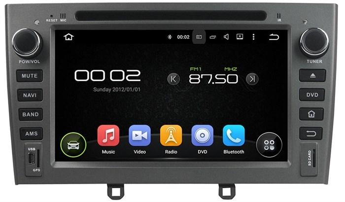 Штатное головное устройство CarMedia KD-7604 Peugeot 408 2012+, 308 2008-2014, RCZ 2010-2015 серый Android 5.1 - фото 13042