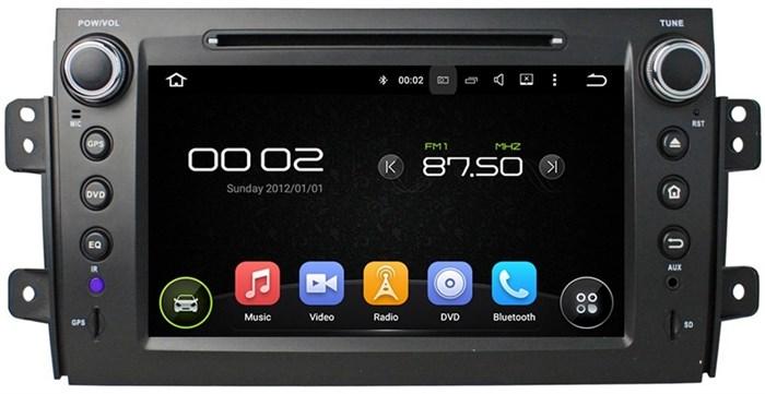 Штатное головное устройство CarMedia KD-8072 Suzuki SX4 2006+ classic Android 5.1 - фото 13152