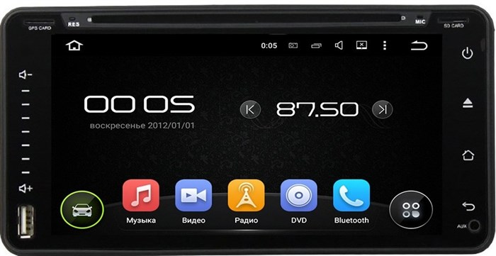 Штатное головное устройство CarMedia KD-6900 Toyota Camry, Corolla, Highlander, Hilux/ Fortuner Android 5.1 - фото 13261