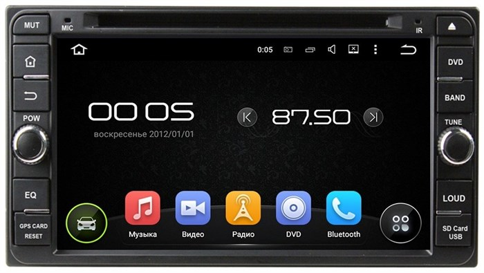 Штатное головное устройство CarMedia KD-6957 Toyota Camry, Corolla, Highlander, Hilux/ Fortuner Android 5.1 - фото 13271