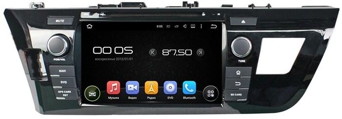 Штатное головное устройство CarMedia KD-8014 Toyota Corolla 2013+ Android 5.1 - фото 13320