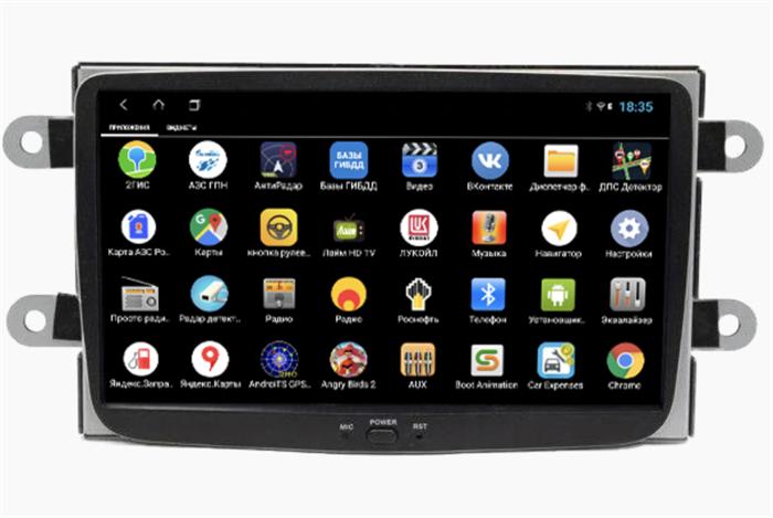 Parafar PF157XHD для Renault Duster, Sandero, Kaptur, Logan 2012-2020 на Android 9.0 - фото 171487