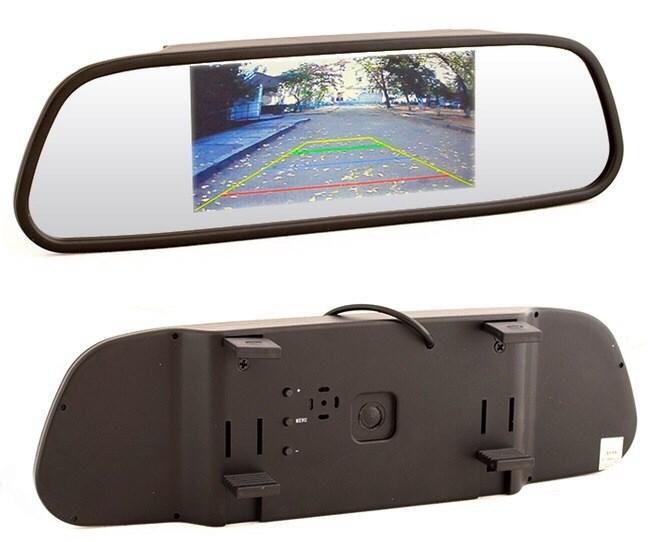 Зеркало с монитором для камеры заднего вида - фото 18720