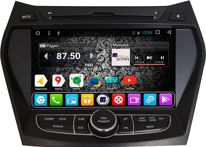 DayStar DS-7004HD для Hyundai Santa FE 2013+ на Android 9.0 - фото 21371