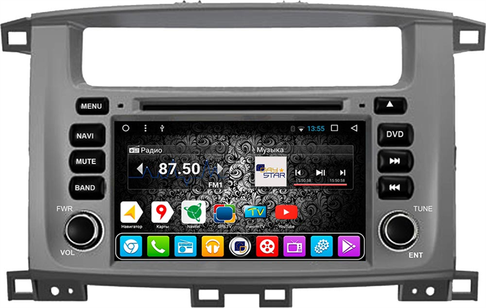 DayStar Toyota Land Cruiser 100 2002-2007 DS-7083HD Android 9.0, 8 ядер - фото 22204
