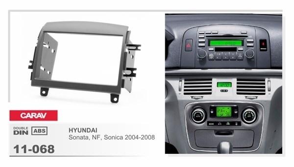 Переходная рамка CARAV 11-068 (Hyundai NF, Sonata, Sonica 2005-2009) - фото 33487