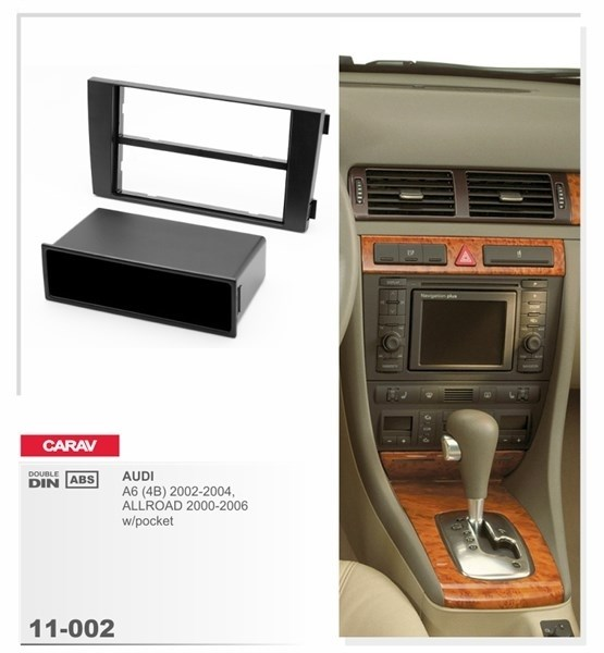 Переходная рамка CARAV 11-002/ Incar RAU6-02 (Audi A6 (4B) 2002-2004 ALLROAD 2000-2006 с карманом) - фото 33529