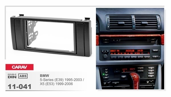 Переходная рамка CARAV 11-041 (BMW 5-Series (E39) 1995-2003, X5 (E53) 1999-2006) - фото 33536
