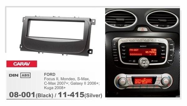 Переходная рамка CARAV 08-001 (Black)/11-415 (Silver) - фото 33562