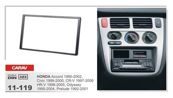 Переходная рамка CARAV 11-119 (Honda Accord 1990-2002, Civic 1999-2000, CR-V 1997-2006, H-RV 1998-2005, Odyssey 1995-2004, Prelude 1992-2001) - фото 33586
