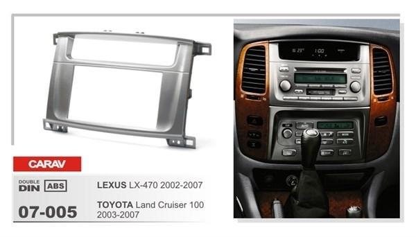 Переходная рамка CARAV 07-005 (Toyota Land Cruiser 100 2003-2007, Lexus LX-470 2002-2007) - фото 33640