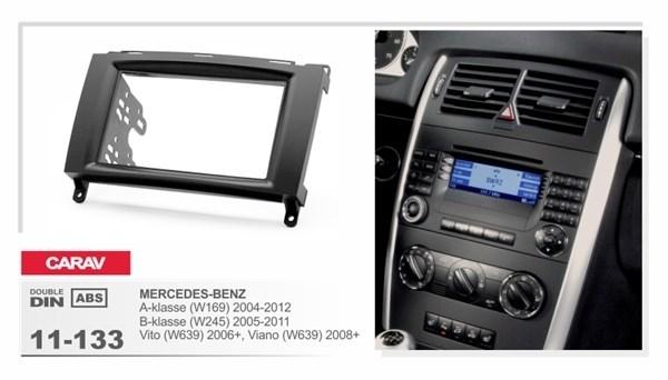 Переходная рамка CARAV 11-133/Incar RMB-N06W (Mercedes-Benz A-class(w169)2004+,B(w245) 2005+,Vito(w636)2003+,Sprinter 2006+\ VW Crafter) - фото 33652