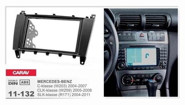 Переходная рамка INCAR RMB-CLK03 Mercedes E,C,CLK (2004+), SLK (2006+) 2din  - фото 33657