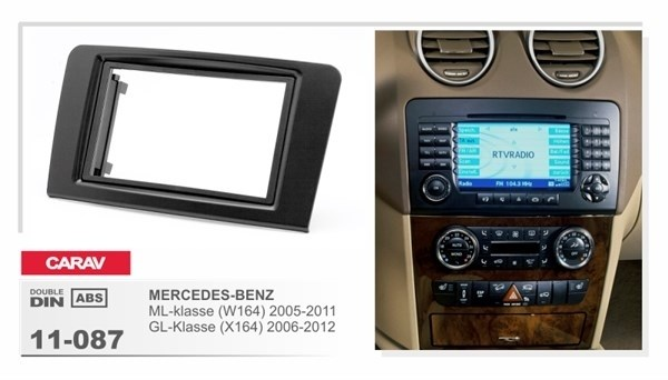 Переходная рамка CARAV 11-087/Incar RMB-N07W (Mercedes-Benz ML (W164) 2005+) - фото 33662
