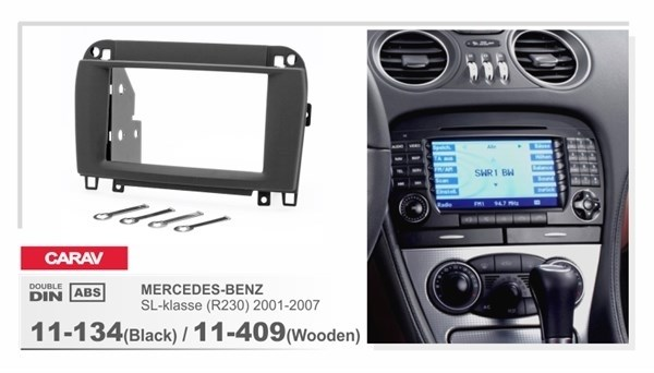 Переходная рамка CARAV 11-134 (Black)/ 11-409(Wooden) (Merceds-Benz SL (R230) 2001+) - фото 33666