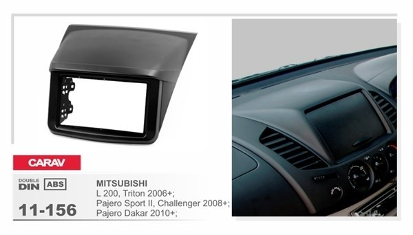 Переходная рамка CARAV 11-156 (Mitsubishi L 200, Pajero Sport 2, Trion 2009+) - фото 33671