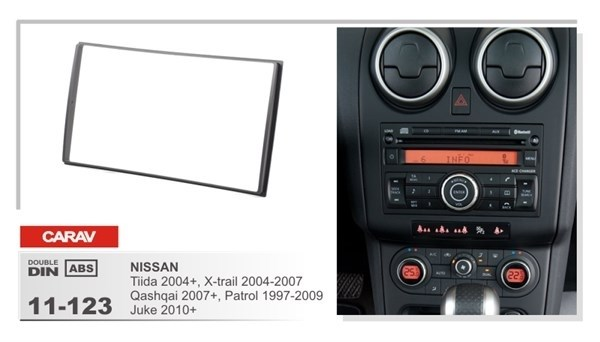 Переходная рамка CARAV 11-123 (Nissan Tiida 2004+, X-Trail 2004-2007, Qashqai 2007+, Patrol 1997-2009, Juke 2010+) - фото 33673