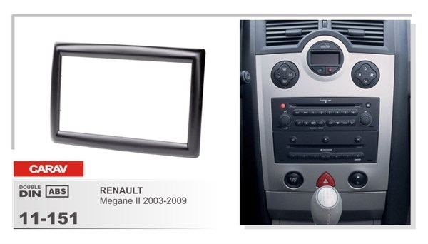 Переходная рамка CARAV 11-151 (Renault Megane 2 2003-2009) - фото 33686