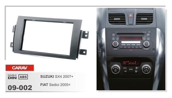 Переходная рамка CARAV 09-002 (Suzuki SX4 2007+ \ Fiat Sedici 2005+) - фото 33712