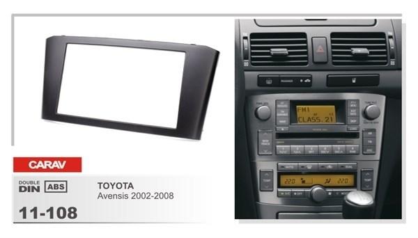 Переходная рамка CARAV 11-108/Incar RTY-FC518 (TOYOTA Avensis 2002-2008) - фото 33719