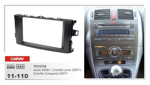 Переходная рамка CARAV 11-110/Incar RTY-FC572 (TOYOTA Auris 2006+, Corolla Levin 2007, Corolla Conquest 2007+) - фото 33721