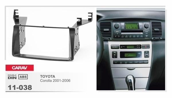 Переходная рамка CARAV 11-038/ Intro 11-038 (Toyota Corolla 2001-2006) - фото 33725