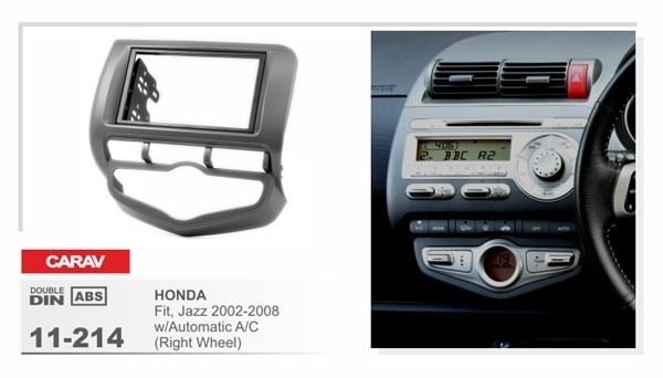 Переходная рамка CARAV 11-214/Intro RHO-N08 (HONDA Fit, Jazz 2002-2008 w/Auto Aircondition (Right Wheel) ) - фото 33760