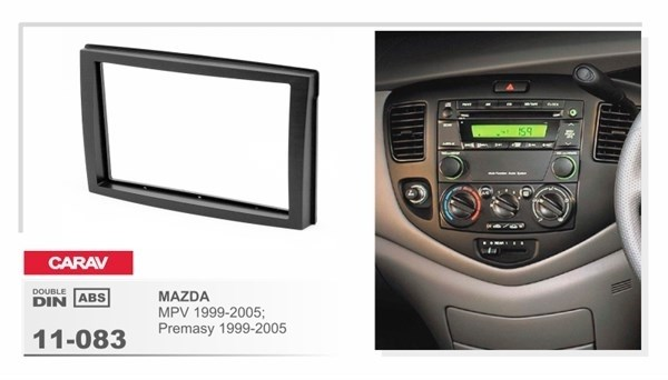 Переходная рамка CARAV 11-083/Incar RMZ-N05 (Mazda MPV, Premacy 1999-2005) - фото 33774