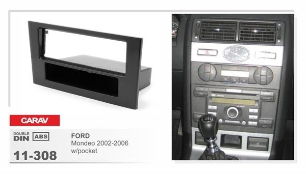 Переходная рамка CARAV 11-308/ Intro RFO-N04 (1-DIN переходная рамка для а/м FORD Mondeo 2002-2006 w/pocket) - фото 33784