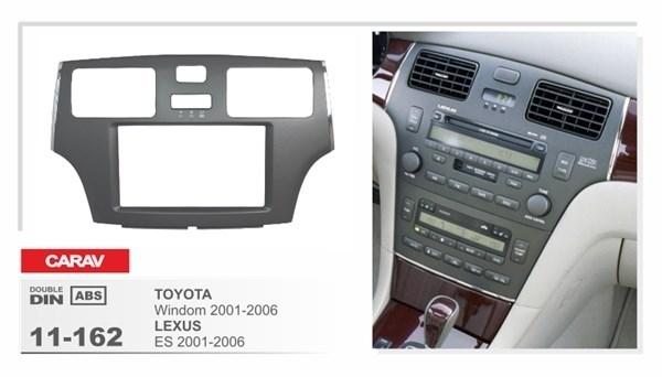 Переходная рамка CARAV 11-162/Incar RTY-N20 (Toyota Windom 2001-2006 / Lexus ES 2001-2006) - фото 33811