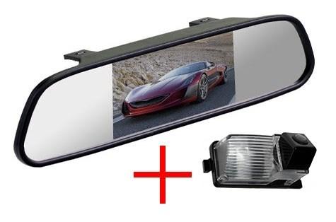Зеркало + камера cam-066 для Nissan Tiida hatchback, Patrol, Livina, Cube, Skyline, GT-R, 350Z, 370Z / Infinity G35, G37 - фото 35623