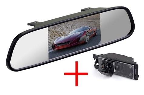 Зеркало с монитором + штатная камера заднего вида - фото 49756