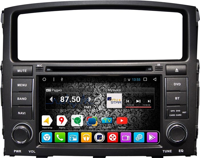 DayStar DS-7007HD для Mitsubishi Pajero 4 на ОС Android 9.0 - фото 5047