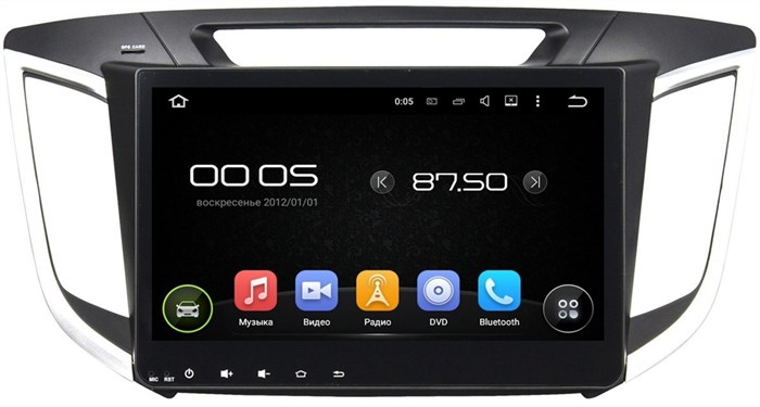 Штатная магнитола CarMedia KD-1080 Hyundai Creta на Android 5 - фото 5220