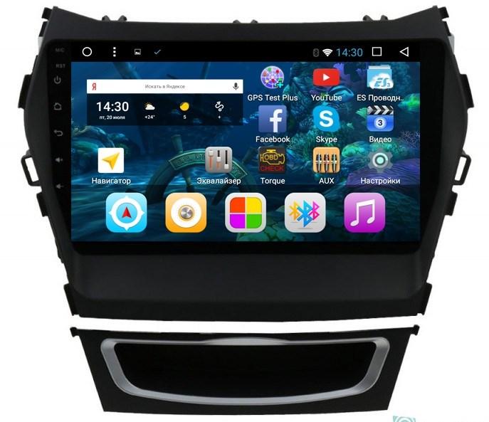 Штатная магнитола Vomi VM1890-T8 для Hyundai Santa Fe III 2012-2018 на Android 7.1.2 - фото 86495