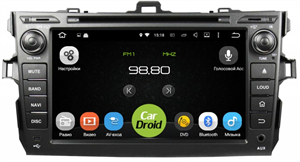 Штатная магнитола Roximo CarDroid RD-1104D для Toyota Corolla E150 (Android 8.0) DSP