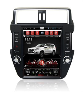 CarMedia SP-12104-T8 Tesla-Style для Toyota Land Cruiser Prado 150 2013-2016