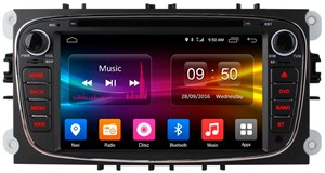 CarMedia OL-7296 для Ford Focus, C-MAX, Mondeo, S-MAX, Galaxy (серебро) на Android 6.0