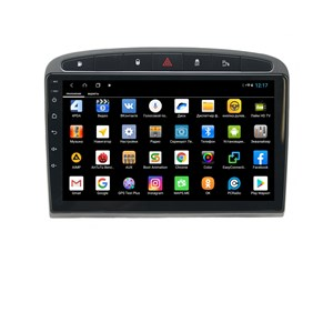 Parafar для Peugeot 308 и 408 2010-2017 черная на Android 8.1.0 (PF081XHD-B)
