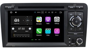 Штатная магнитола CarMedia KD-7037-P3-7 Audi A3 II (8P) 2007-2013 Android 7.1