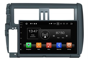 CarMedia KD-9025-P5 для Toyota Land Cruiser Prado 150 (2009-2013) темно-серый на Android 9.0